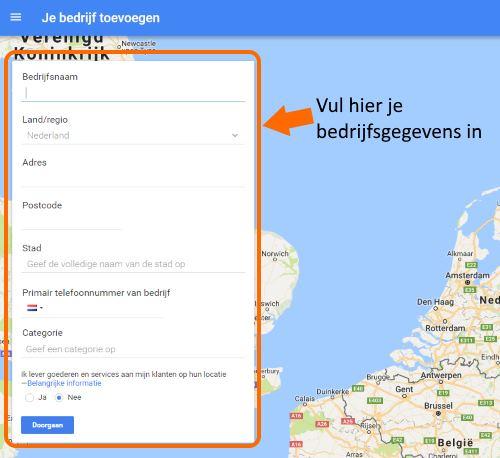 Google Bedrijfsvermelding inlog