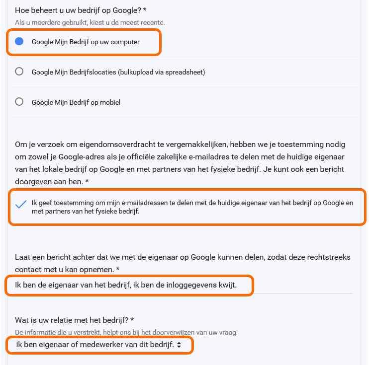 google mijn bedrijf toegang aanvragen