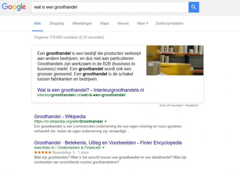wat is een Google rich answer?